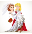 Wedding of Prince and Fairytale princess vector image