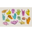 Hand collection - line vector image