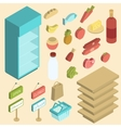 Supermarket Icon Isometric vector image