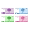 Abstract Cute Color Banknote Templates Set vector image
