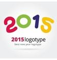 2015 logotype isolated on white background vector image