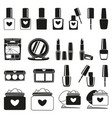 21 black and white make up silhouette elements vector image vector image