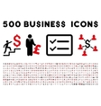 500 Flat Business Icons vector image vector image