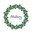 a wreath of blueberries ornament leaves and vector image vector image