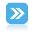 arrow icon blue square icon with reflection vector image vector image