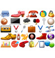 assorted office and household equipment isolated vector image