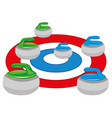 atheletic play curling vector image
