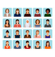 avatars characters set of different kind women vector image vector image