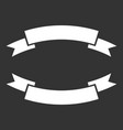 badge icon ribbon in flat style on black vector image