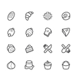 bakery popular icon set on white background vector image vector image