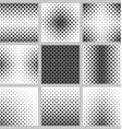 Black and white curved star pattern set vector image vector image