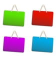Blank colorful plastic sign vector image
