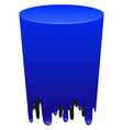 Blue color tube melting vector image vector image