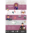 business infographic template with office workers vector image vector image