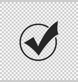 check mark in round icon isolated vector image vector image