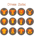 Chinese Zodiac Icons Set vector image