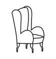 classic chair comfort furniture icon thick line vector image