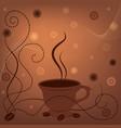 coffee fon vector image vector image