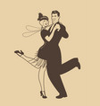 couple wearing clothes in the style vector image vector image