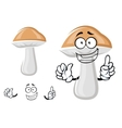 Cute cep mushroom with a happy smile vector image vector image