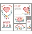 Cute wedding design template setFloral decor vector image