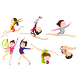 Different types of gymnastics vector image vector image