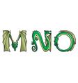 dragons Alphabet mno vector image vector image