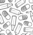 Drugs and alcohol seamless pattern vector image vector image