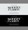elegant alphabet letters font set typography vector image vector image