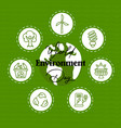 environment day flat line nature icon concept card vector image vector image