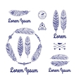 ethnic feathers logo vector image vector image