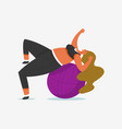 fitness ball for girl plus size health sport in vector image vector image
