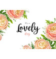 floral watercolor style card with pink flowers vector image vector image