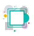 frame and geometric pattern vector image
