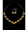 gold coin necklace set 1 vector image vector image