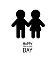 happy friendship day boys girls holding hands vector image vector image