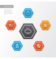 hardware outline icons set collection of notebook vector image vector image