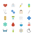 Healthcare and Medical Flat Icons color vector image vector image