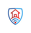 house secure signal logo vector image