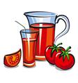juice tomato vector image vector image