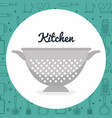 kitchen fried drainer utensil icon vector image vector image