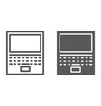 laptop line and glyph icon office and work vector image vector image