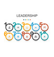 leadership infographic design template vector image vector image