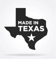made in texas logo vector image vector image