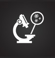 microscope with virus ob black background vector image