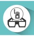 Movie video camera 3d glasses icon