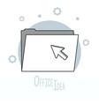 office ideas doodles vector image