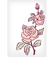 Pink rose flower vintage card vector image
