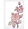 Pink rose flower vintage card vector image vector image