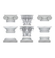 realistic ancient greek roma column vector image vector image